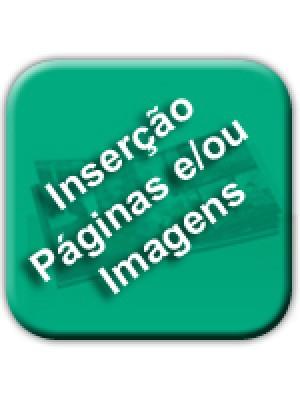 Inserção de páginas e/ou imagens no seu livro